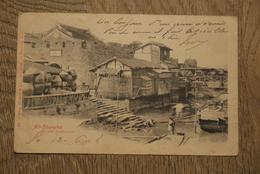 China Postcard 1908 Old Shangai An Der Stadsmauer - China