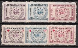 Cambodge - 1959 - N°Yv. 78 à 83 - Série Complète - Neuf Luxe ** / MNH / Postfrisch - Kambodscha