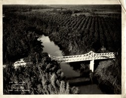 PONT SUR LE SONG BE PHUOC HOA INDOCHINE INDOCHINA  23*17CM Fonds Victor FORBIN 1864-1947 - Lieux