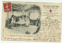 Belle Cpa  Société De Secours Aux Blessés Militaires DES ARMEES DE TERRE & DE MER  Croix Rouge Francaise Dispensaire - Militaria