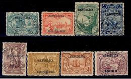 ! ! Azores - 1911 Vasco Gama (Complete Set) - Af. 135 To 142 - Used - Açores