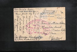 USA 1928 First Flight Air Mail Via Zeppelin USA - Germany Interesting Postcard - Zeppeline