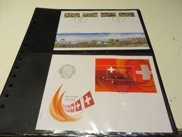 SCHWEIZ  Posten   F D C  -  BELEGE  Mit  BLÖCKEN  Und  ZUSAMMENDRUCKE  In  STECKSEITEN - Blocks & Kleinbögen