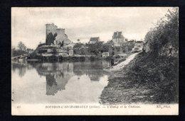 - BOURBON-L'ARCHAMBAULT (Allier)  L'étang Et Le Château ( N.D. Phot. ) - Bourbon L'Archambault