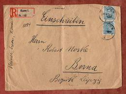 Eupen + Malmedy, Einschreiben Reco, Koenig Albert, Eupen Nach Borna 1920 (89662) - Belgien