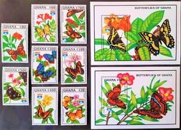 # Ghana 1992**Mi.1692-1701 International Stamp Exhibition GENOVA '92, Butterflies , MNH [24;7] - Schmetterlinge
