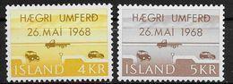 Islande 1968 N° 374/375  Neufs ** MNH Circulation à Droite - Nuovi