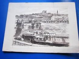 LYON LE PONT DU PALAIS DE JUSTICE [69] Rhône GRAVURE [-CPM Carte Postale  Europe  France - Unclassified