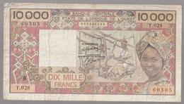 Côte D'Ivoire Billet De 10 000 Francs CFA Série B Circulé - Côte D'Ivoire
