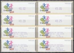 ET218:  2007 - Crianças Em Risco - CROUZET - Etiquetas Diversas (impressão Lilás) - Vignette Di Affrancatura (ATM/Frama)