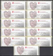 ET126 - 10º. Aniv. Ano Int. Família CROUZET - Etiquetas Recibo - Vignette Di Affrancatura (ATM/Frama)