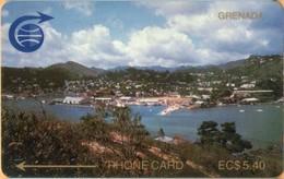 Grenada - GPT, GRE-2A, 2CGRA, St. Georges 5,40 EC$ (Small Notch), 5,40EC$, 1,000ex, 1989, Used - Grenada