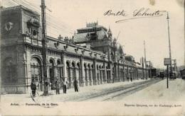 Arlon Panorama De La Gare Circulée En 1904 - Arlon