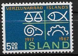 Islande 1967 N° 367  Neuf ** MNH Chambre De Commerce - Nuovi