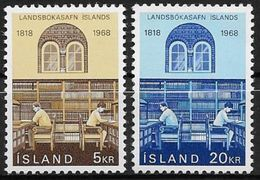 Islande 1968 N° 377/378  Neufs ** MNH Bibliothèque Nationale - Nuovi