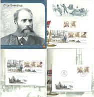 Norway 2004 Otto Sverdrup  Mi 1502-1503 Bloc 25,  MNH And Set In FDC In Folder - Briefe U. Dokumente