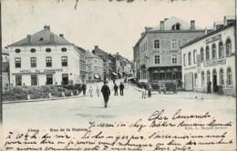 Ciney Rue De La Station Circulée En 1904 - Ciney
