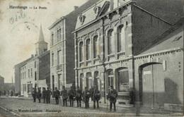 Havelange La Poste Avec Les Facteurs Posant Devant Circulée En 1906 - Havelange