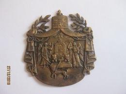 Ethiopia: Badge With Haile Selassie Monogramme (Palace?) Applique De Marqueterie - Non Classés