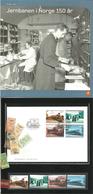 Norway 2004 150 Years Of Railways In Norway.  Mi 1507-1510,  MNH And Set In FDC In Folder - Norwegen