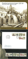Norway 2004 Oseberg Excavations Centenary  Mi 1513-1515  MNH And Set In FDC In Folder - Norwegen