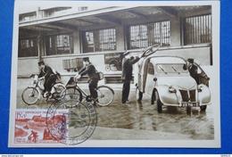 24 ALGERIE CARTE POSTALE ANCIENNE 1958 JOURNEE DU TIMBRE HUSSEIN-DEY CACHETS - Algeria (1962-...)