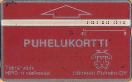 Finland - HPO-OD6, Landis & Gyr, 301A, Puhelukortti Red, 45 U, 12,000ex, 3/92, Used As Scan - Finlandia