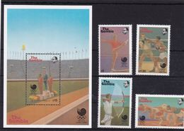 Gambia, Olympic 1988, 4 Stamps+ Block - Zomer 1988: Seoel