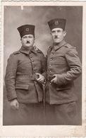 Carte Photo MILITARIA Deux Soldats  Au 23 Zouaves En 1939 - Régiments