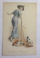 Ostern, Frauen, Mode, Hutmode, Spielzeug, Lamm, Zylinder, 1907, Munk ♥ (36933)  - Pâques