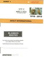 Tickets Pour Collection. Musée De L'Apartheid & Maison De Mandela. Afrique Du Sud - Tickets - Entradas