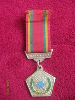 Ethiopia: Derg Time, Workers Party Of Ethiopia's Medal 1980s - Gold Color - Militair