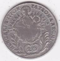 Hongrie . 20 Krajczar 1770 EVM.B. Maria Theresia. Argent .KM# 381.1 - Hungary