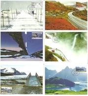 Norway 2010 Tourism: National Tourist Routes  Mi 1714-1719  Maximums Cards - Norwegen