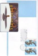 NEDERLAND * TELEBRIEF * TELELETTER TELETETTRE  Nr. 2. * CHIPCARD * MINT * BIRDS OF PRAY * ROOFVOGELS + POSTZEGELS STAMPS - Nederland