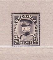 1934 Nr 384(*) Postfris Zonder Gom. Rouwzegel Albert I. - Belgien