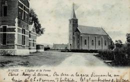 Wanze L'Eglise Et La Ferme Circulée En 1908 - Wanze