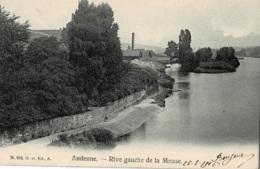 Andenne Rive Gauche De La Meuse  Circulée En 1909 - Andenne