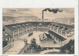 54 NANCY QUAI CHOISEUL PUBLICITE DELCHARD MANUFACTURE DE PANTOUFLES CPA BON ETAT - Nancy