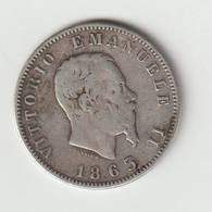 9-Regno D' Italia-1L.Argento 1863 Milano-BB ? - …-1861 : Before Reunification