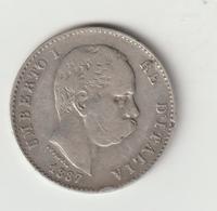 11-Regno D' Italia-1L. Argento 1887 Milano-BB ? - …-1861 : Before Reunification