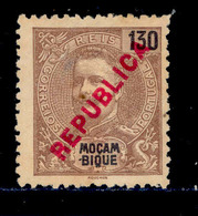 ! ! Mozambique - 1917 King Carlos Local Republica 130 R - Af. 196 - No Gum - Mozambique