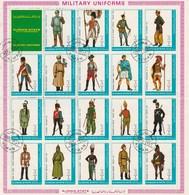 Ajman - Planche De 56 Timbres Uniforme Militaire - Année 1972 - Mi 1774 à 1979 - Mi 1793 à 1812 - Mi 2537 à  2554 - Ajman