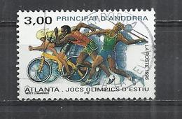 ANDORRA 1996 - OLYMPIC GAMES - POSTALLY USED OBLITERE GESTEMPELT USADO - Sommer 1996: Atlanta