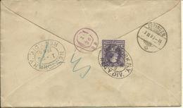 1899  10c  Registered Letter From New York To Zofingen, Switzerland  Additional 3c On Backside - 1847-99 Unionsausgaben