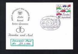 Germany Souvenir-Post Phila Hochzeit Des Jehres 1999 Liebe Kennt Keine Grenzen Posted Gaildorf 1999 (G52-87) - [7] République Fédérale