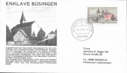 Special Place Büsingen In Schweiz Can Use German Stamp To A Sondertarif - Here A Cover Posted Büsingen 1986 - Post