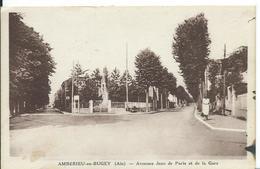 AMBÉRIEU-EN-BUGEY   (AIN)  AVENUE JEAN DE PARIS ET DE LA GARE - Frankrijk
