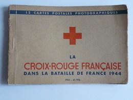 Rare Carnet De 12 Cartes De La Croix Rouge Française Dans La Bataille De France 1944 Vue De Paris 12 Cartes Scannées - Rotes Kreuz