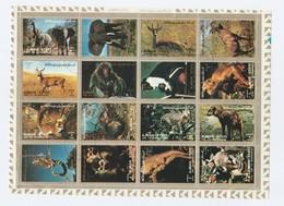 Ajman - Lot De 2 Feuillets De 16 Timbres Grand Format - Animaux Sauvages - Année 1973 Mi 2685 à 2700 Et 2829 à 2844 - Ajman